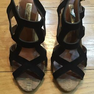 Halogen Gracey Womens Leather Strappy Sandals 7M
